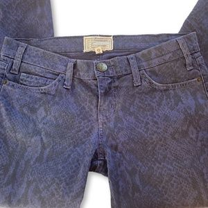 CURRENT/ELLIOT  Ankle Skinny Jeans in Blue Ribbon